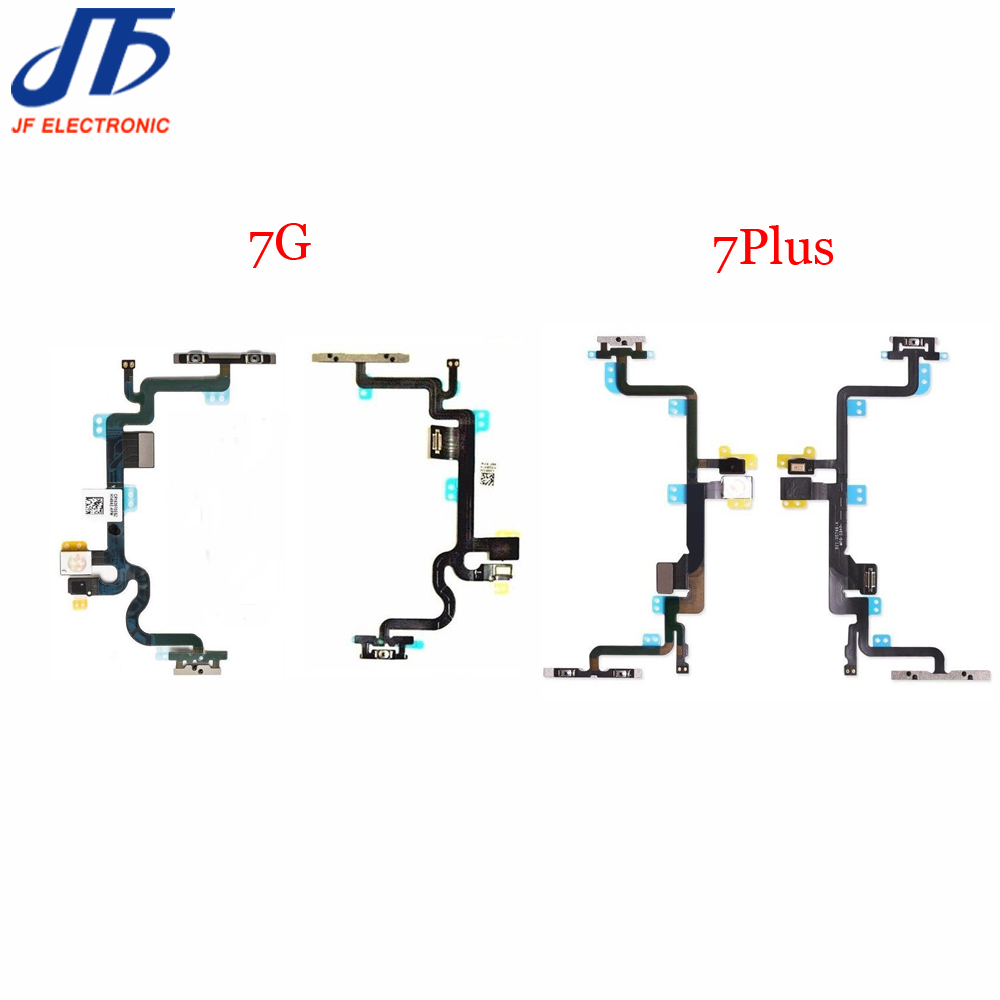 New 7G Power On Off Volume Mute Switch Flex Cable with Metal Bracket for iPhone 7
