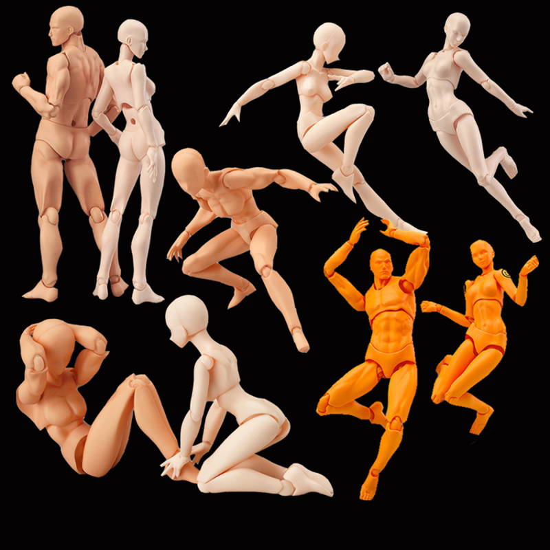 Anime Figma Movable Body Chan PVC Action Figure Model Toys Doll For Collectible Mannequin Art Sketch Draw Human Body Dolls