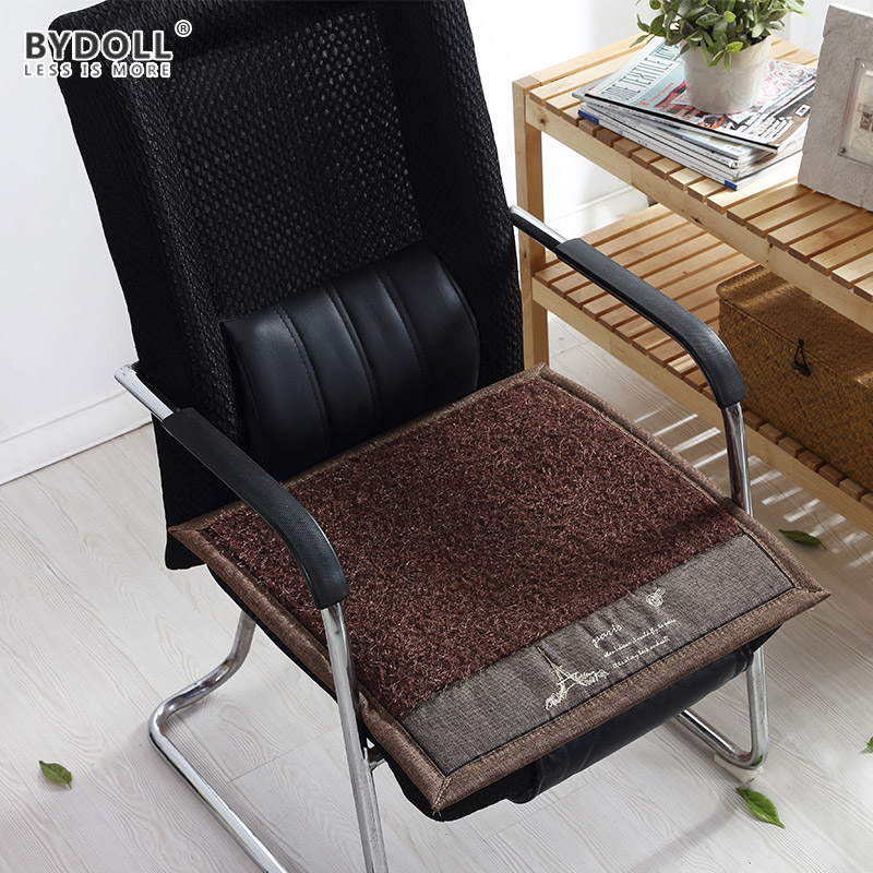 BYDOLL Solid Thickening Cushion Mat Cotton Chair Seat Pads For Patio Home  Sofa Office Chair Decoration