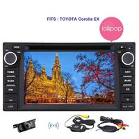 For TOYOTA Corolla Android 5 1 Quad Core 2 Din Car DVD Player GPS Navigation Sat