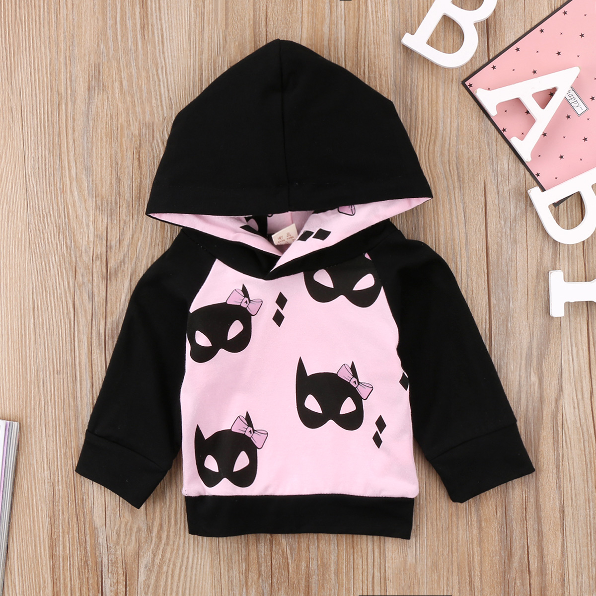 2018 New  Child Kids Baby Boys Girl Sweetshirt Long Sleeve Pink Cartoon Leisure Coat Clothes