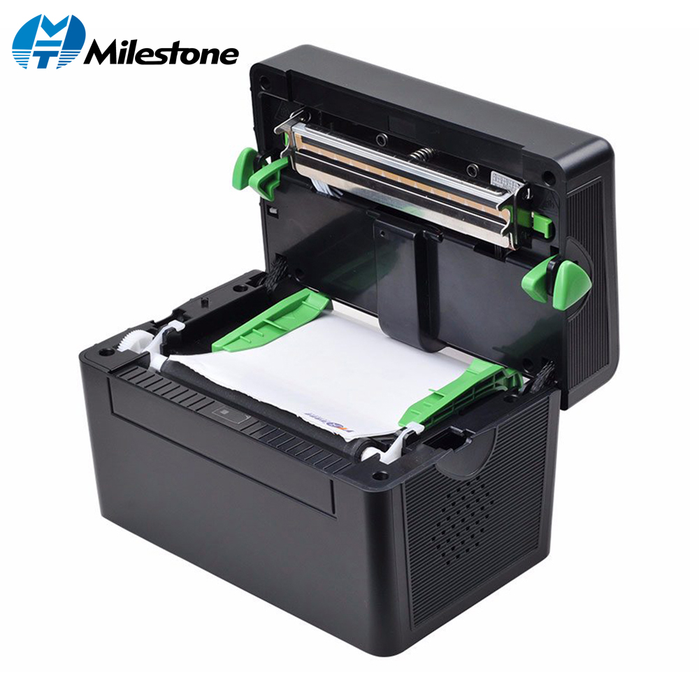 Milestone Pos High Quality 108mm 4 inch Thermal Label Barcode Printer USB Port for Delivery Logistics