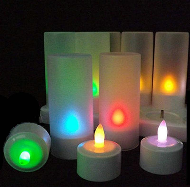 6pcs Set Remote Controlled Rechargeable Tea Light Led