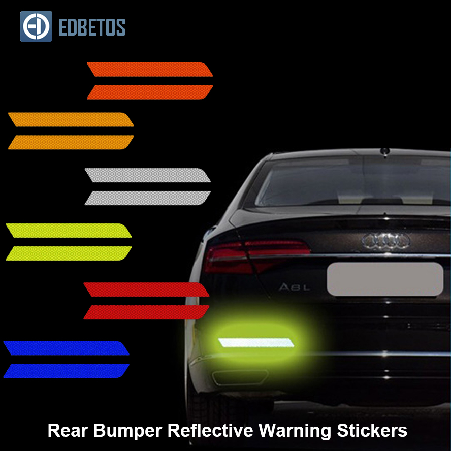 Car Body Rear Bumper Reflective Warning Stickers Safety Mark Decal Notice Bicycle Pegatinas Automovil Coche Araba Aksesuar in Car Stickers from Automobiles Motorcycles