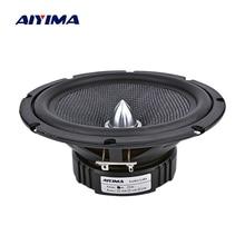 AIYIMA 1 шт., 6,5 дюймов, аудио, автомобильные СЧ-динамики, домашний кинотеатр, 4 Ом, стекловолокно, пуля, НЧ-динамик, громкоговоритель, сделай сам, звуковая система