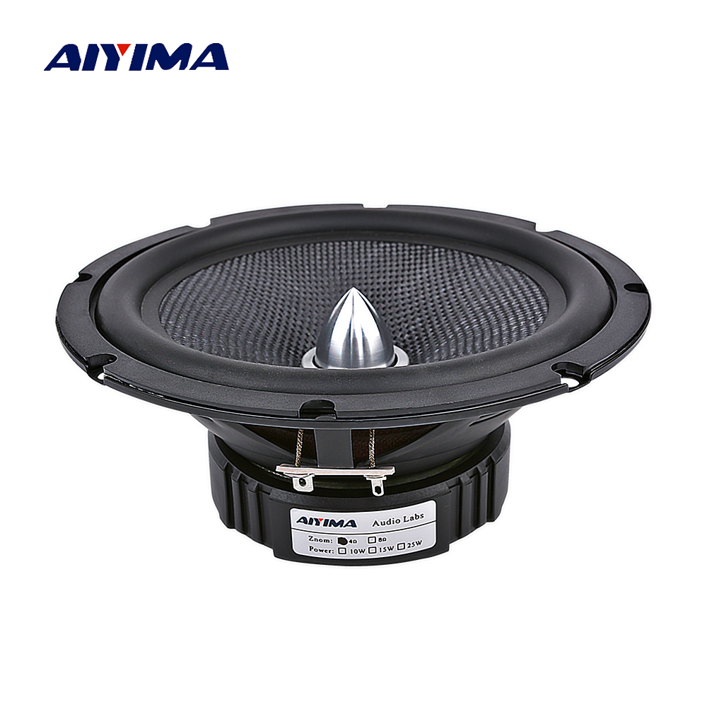 AIYIMA 6.5 Inch Audio Car Midrange Bass Speakers Home Theater 4 8 Ohm 60W Glass Fiber Bullet Woofer Loudspeaker DIY Sound System-in Coaxial speakers from Automobiles & Motorcycles
