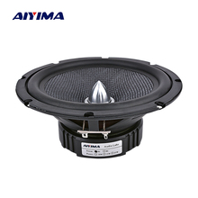 AIYIMA 6.5 Inch Audio Car Midrange Bass Speakers Home Theater 4 8 Ohm 60W Glass Fiber Bullet Woofer Loudspeaker DIY Sound System guan audio 3 inch full range speakers bass midrange treble delicate sweet fever hifi professional 2 0 4 8 ohm 2 speakers