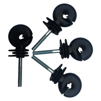 50pcs Electric Fence Ring Insulator Fine Thread Type Fence Screw Stable And Easy To Twist Mesh Insulator Protecting Creatures