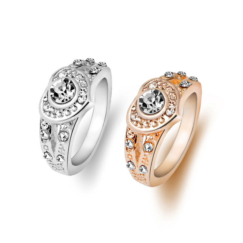 Online Shop propose marriage Rings New Design heart Shape Gold ...