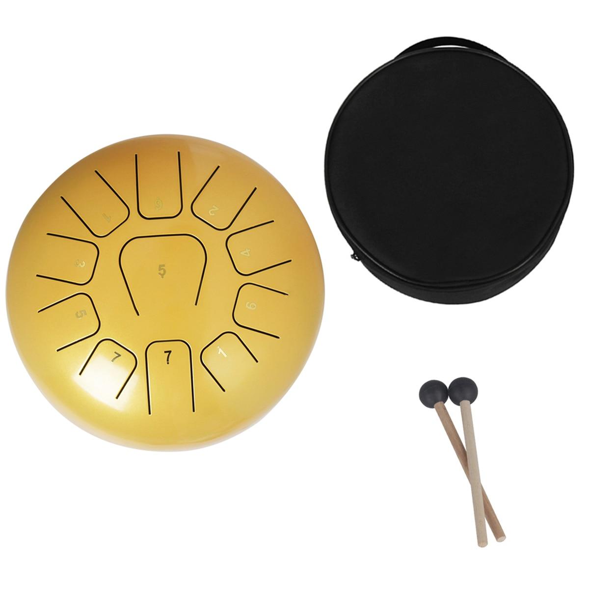 12 ''langue en acier tambour 11 Notes Handpan tambour Tankdrum Instrument avec maillets sac de rangement pour enfants adultes Instruments de Percussion - 5