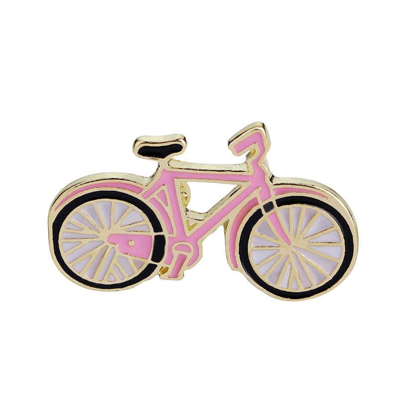 Merah Muda Sepeda Pin & Bros Colorful Enamel Pin Botol Bros Lencana Bintang Harapan Brocade Berkemah Langit Berbintang Astronot