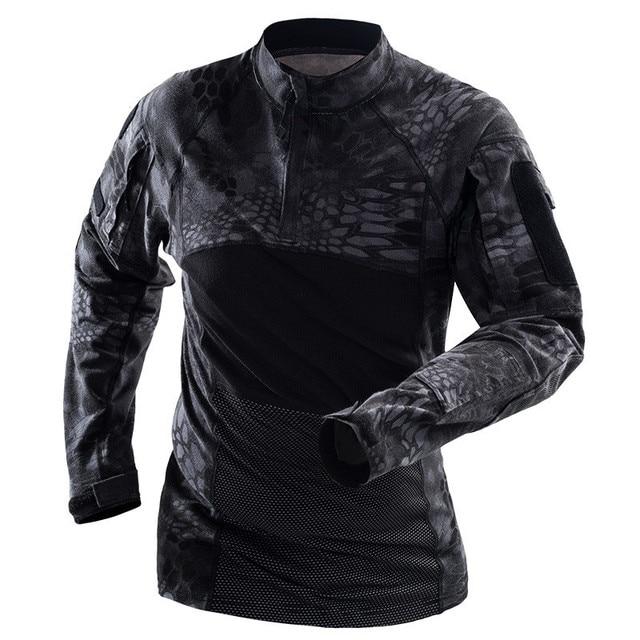 Лягушка Топы Одежда с длинным рукавом камуфляж военный США армейская рубашка комплексный Камуфляж для страйкбола Пейнтбольная одежда тактическая рубашка