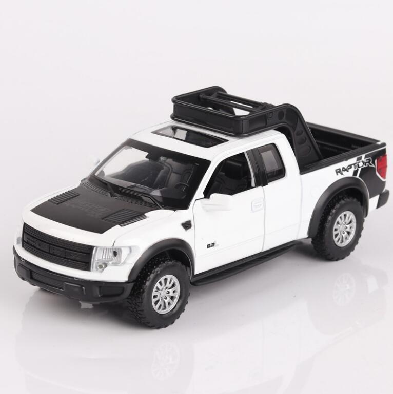 1/32 Diecasts & Toy Vehicles Ford F-150 SVT Raptor Car Model With Sound&Light Collection Car Toys For Boy Children Gift басовый усилитель ampeg svt 7pro