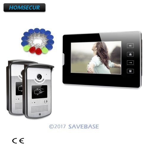 все цены на HOMSECUR 7inch Video Door Phone Intercom System with Touch Panel Monitor for House/ Flat онлайн