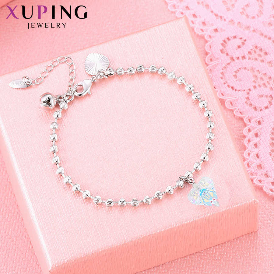 Xuping Heart-Shaped Bracelets Crystals from Swarovski  Romantic Cute Delicate Jewelry for Women Christmas Gift M96-70020