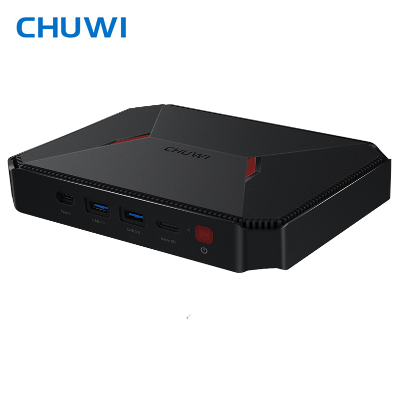 D'origine CHUWI GBOX intel Gemini-Lac N4100 LPDDR4 4 GB 64 GB mem Window10 Bluetooth 4.0 Wifi 2.4G /5G HDMI 2.0