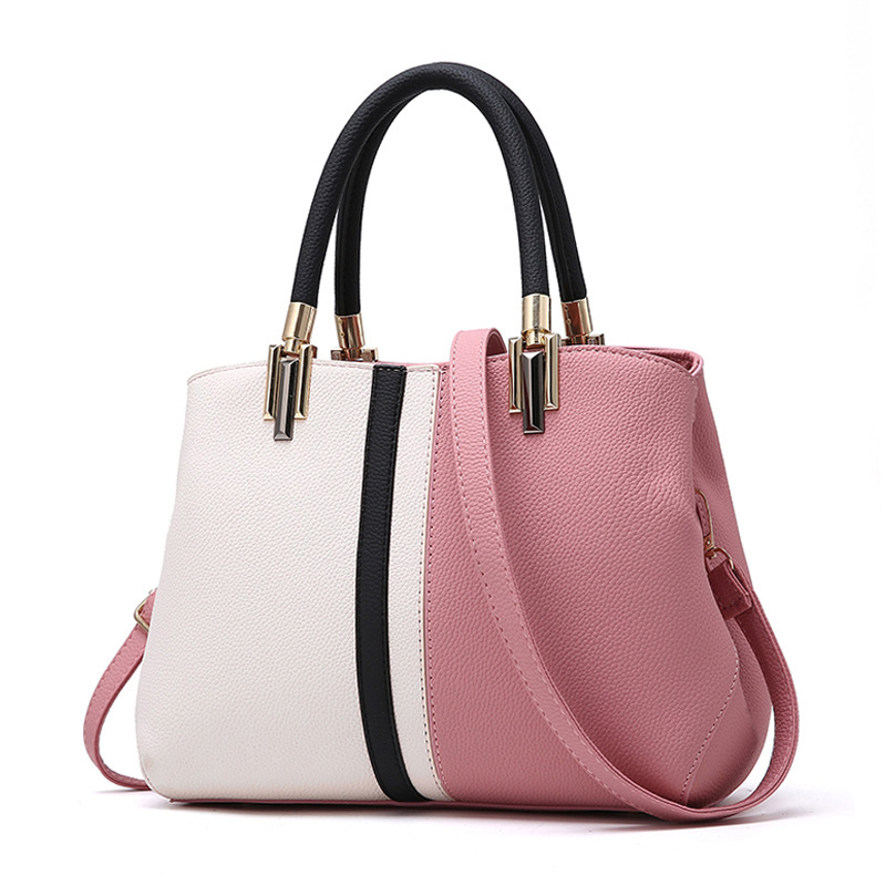 YOUNNE Women Fashion Handbag Female Patchwork Zipper Casual