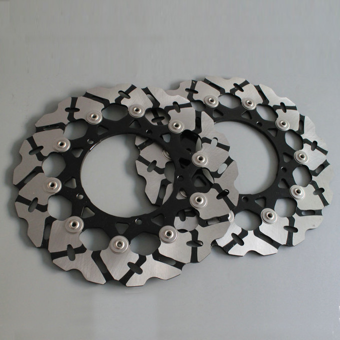 2 pieces motorcycle Front Disc Brake Rotor Scooter Front Rear Disc Brake Rotor for YAMAHA YZF600 R6 2007-2012 YZF1000 R1 07-13 rear brake disc rotor for yamaha fz400 srx400 xjr400 fz600 fzr600 fzs600 srx600 xj600 yzf600 yzf750r tdm850 tdm900 yzf1000