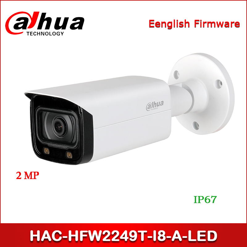 Dahua HAC-HFW2249T-I8-A-LED 2MP Full-color Starlight HDCVI Bullet Camera 40m(131ft) LED Distance Built-in Mic CCTV Camera