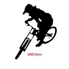 0de1f6e0d Trilhas de Mountain Bike Downhill styling janela do carro de Vinil Adesivo  De parede Decalque Preto