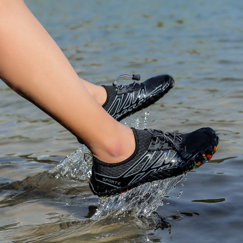 Men Women Outdoor Sandals Beach Shoes Plus Size Water Barefoot Shoes Swimming Lovers Aqua Shoes Breathable Five Fingers Footwear