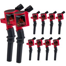 цена на 10 pcs/set Curved Boot Ignition Coil for Ford Lincoln Mercury 4.6L 5.4L V8 Compatible with DG508 C1454 C1417 FD503 DG457 Curved