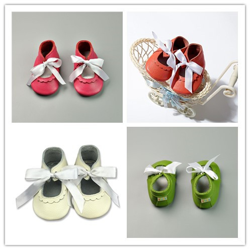 New Genuine Leather Baby Moccasins lace-up Baby Shoes Bebe newborn Suede boys girls shoes Soft Bottom First Walkers