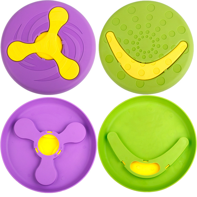 New Creative Pet Toy Pet Flying Discs Throw Training Bite Molar Toy Plastic Dog Flying Pet Dog Chew Toy Pet Products in Dog Toys from Home Garden