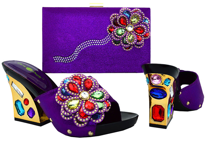 ФОТО New Arrival African Women Shoes And Bags Set!High Quality Italian Shoes And Matching Bags For Wedding! BCH-36