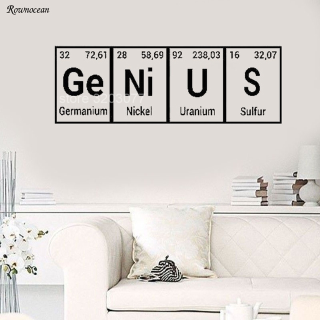 Periodic table element chemistry class art wall sticker classroom periodic table element chemistry class art wall sticker classroom decor vinyl decal teens bedroom self adhesive urtaz Images