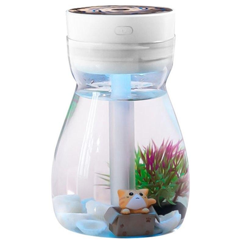 Cute Cool Mist Humidifier Office Bedroom Air Purifier Usb Charging Kawaii Air Humidifier With Led Light Air Moisturizing Bottl