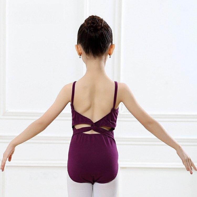 Backless Gymnastics Leotards Dance Wear For Women Girls Ballet Sleeveless Clothes Child Ballet Dance Leotard Ballerina Costumes