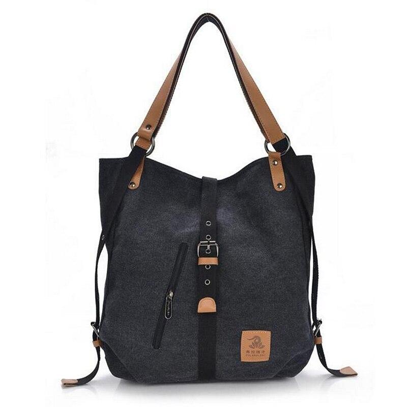 ABDB 2018 Women Fashion Casual Canvas Multifunctional Messenger Bag 5 Color