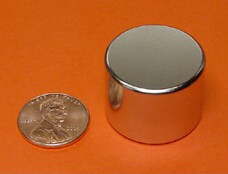 NdFeB Disc Magnet 1 dia.x3/4 thick Neodymium Permanent Magnets Grade N42 NiCuNi Plated Axially Magnetized ems SHIPPED 1 pack dia 4x3 mm jewery magnet ndfeb disc magnet neodymium permanent magnets grade n35 nicuni plated axially magnetized