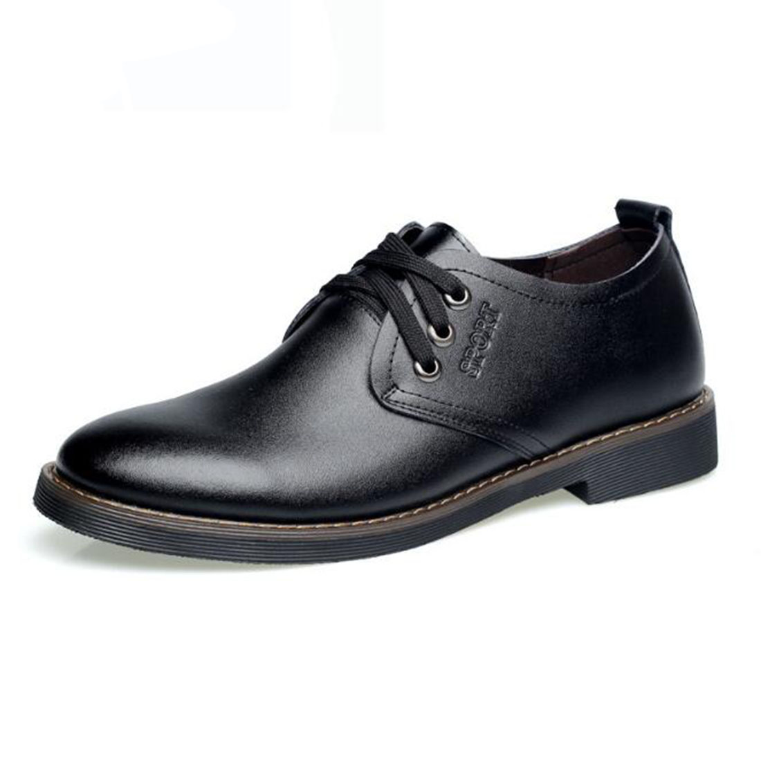 ФОТО Genuine Leather Shoes Mens , High Quality Oxford Shoes For Men, Lace-Up Business Men Shoes, Brand Men Wedding Shoes Casual Flats