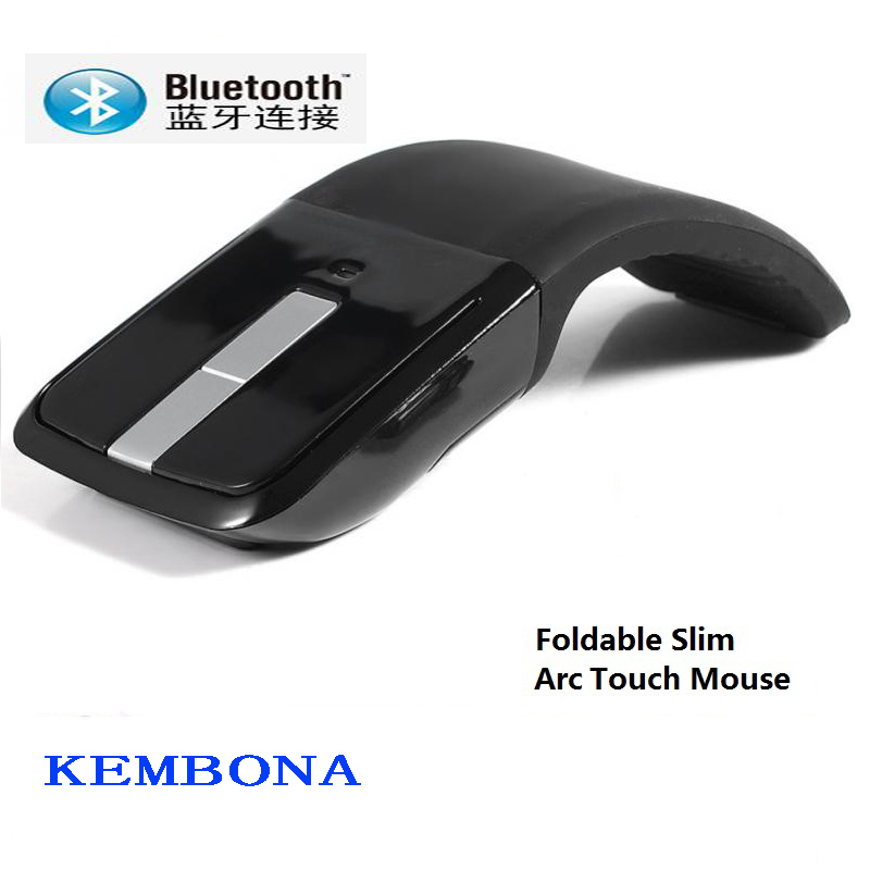 KEMBONA 2.4Ghz Wireless Bluetooth Digital Mouse Arc Touch Mouse Foldable Laptop Mice for Microsoft Surface Laptop