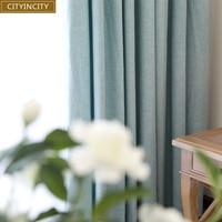 CITYINCITY Solid Modern Home Decor Curtain Faux Linen Plain Curtains Darpe For Bedroom Livingroom Rideaux Window