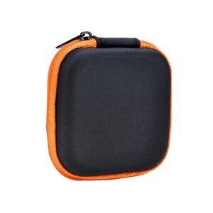 Image 3 - Doitop 미니 지퍼 하드 헤드폰 케이스 pu 가죽 이어폰 보관 가방 휴대용 이어폰 상자에 대 한 보호 usb 케이블 주최자