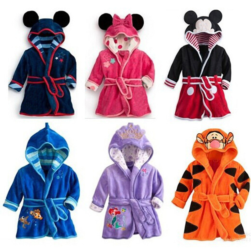 Kids Baby Mickey Minnie Mouse Pajamas Toddler Kid Boys Girls Tigger Sleepwear Pyjamas Tops Nightgown Children Clothes Coat