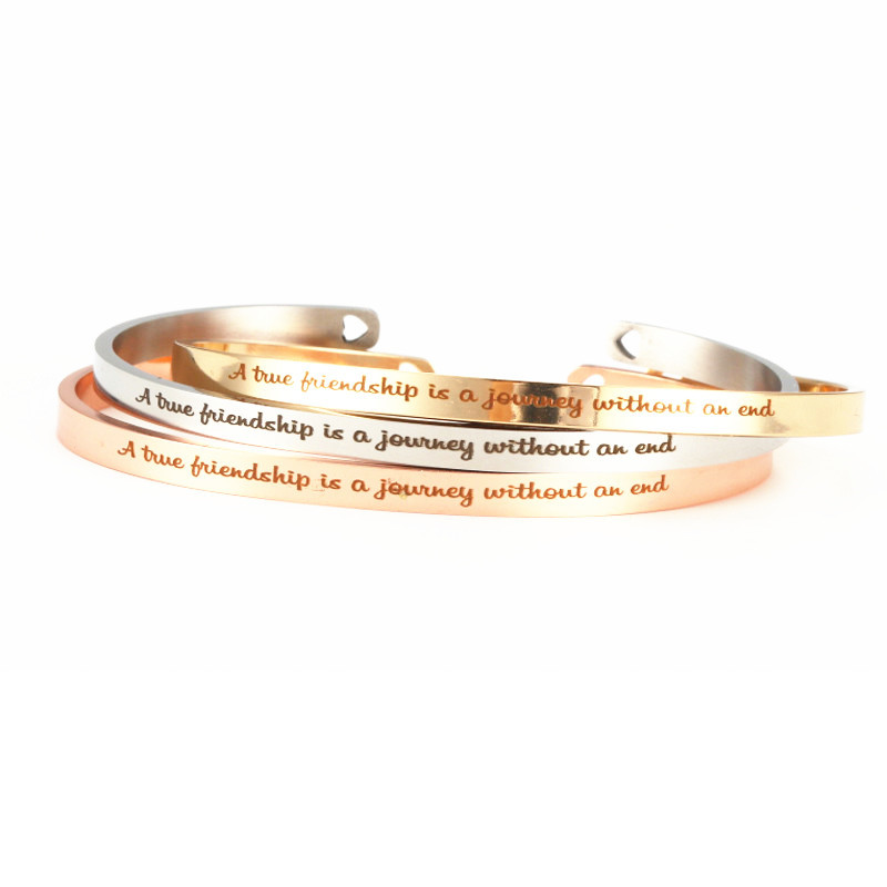 bracelet mantra quotes bracelet stainless steel cuff bangle for
