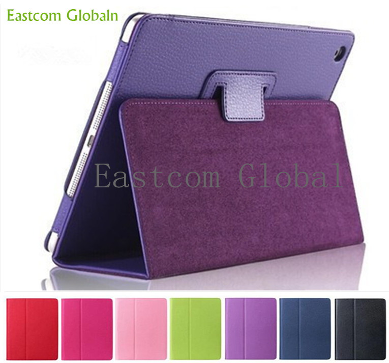 Tablet Case For Apple iPad Air 2 Case Flip Litchi PU Leather Auto Sleep/ Wake Up Cover For iPad 6 Case Smart protective cover stand ultra thin pu leather case for apple ipad mini 1 2 3 case colorful flip tablet smart cover auto sleep wake up magnet