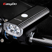цена на EasyDo 1000LM Cycling Headlight Bicycle Head Lamp 4400mA USB Rechargeable MTB Bike Front Light LED Flashlight for Road Cycle