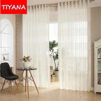 New Mercurial Superfly White Colors Sheer Curtains For Living Room Kitchen Room Bedroom Window Screening WP108