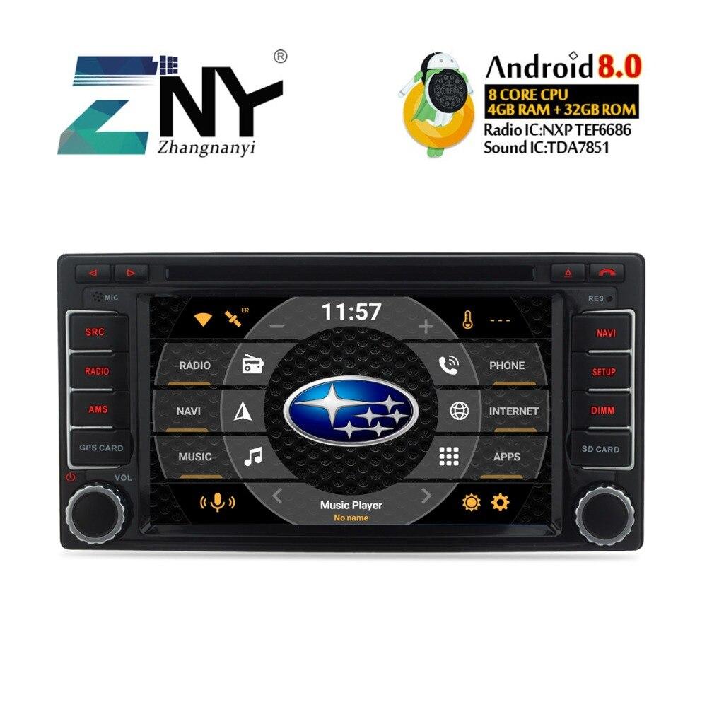 4 GB RAM Android 8.0 dvd de voiture Pour Subaru Forester Impreza 2008 2009 2010 2011 2012 auto-radio FM navigation gps Livraison caméra de recul