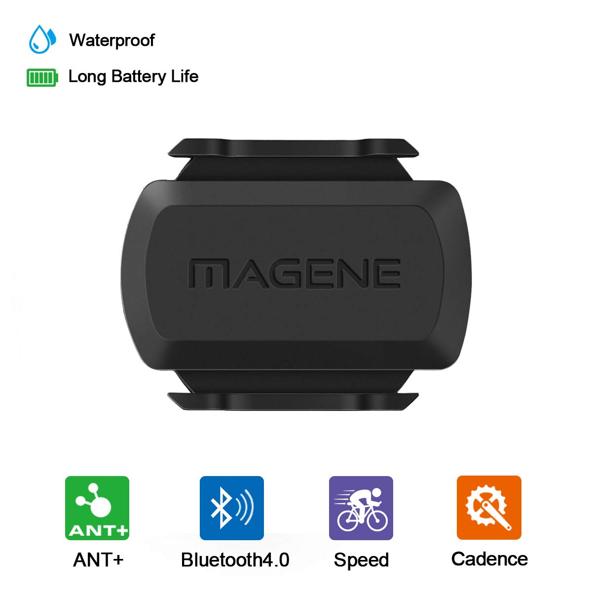 MAGENE gemini 210 Speed Sensor cadence ant+ Bluetooth for Strava garmin bryton <font><b>bike</b></font> bicycle computer <font><b>power</b></font> <font><b>meter</b></font> image