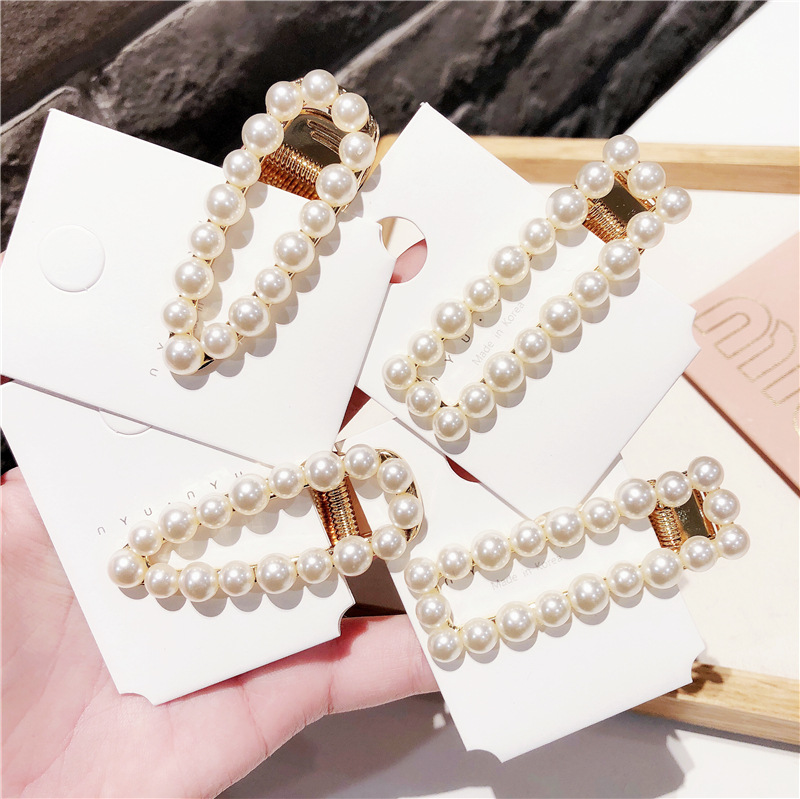 1Pcs Fashion Women Girl Korean Fashion pearls Barrette Hairpins Clips Butterfly   Headwear   Hair Band Hair Accessories