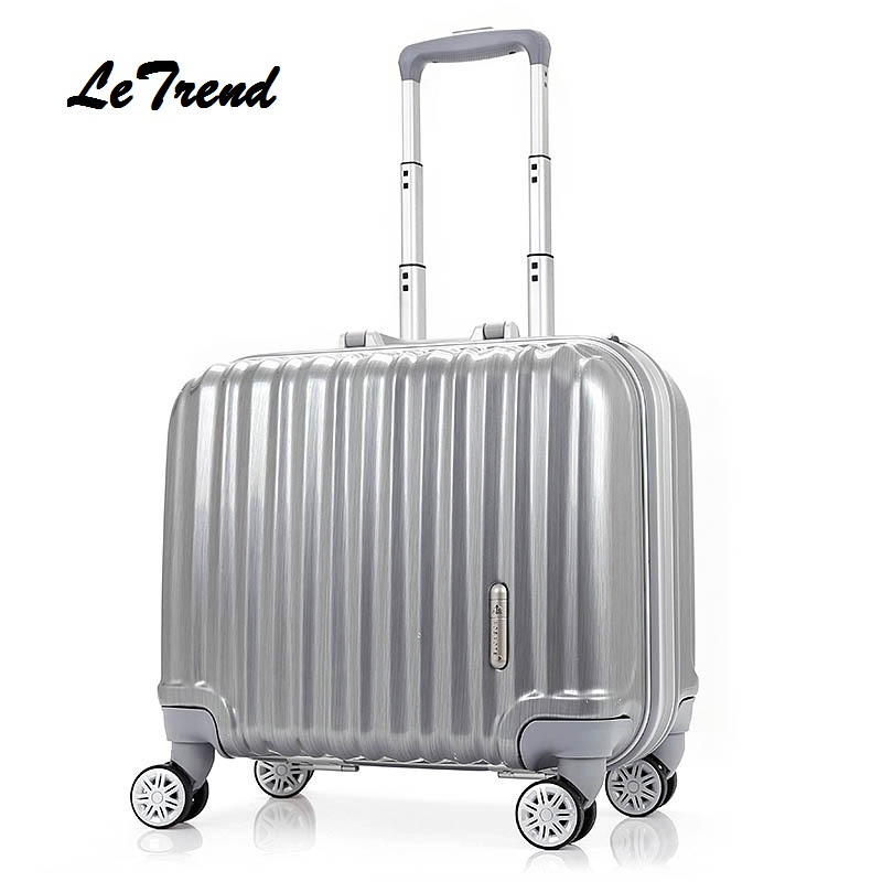 LeTrend Fashion Rolling Luggage Spinner 18 inch Student Suitcase Wheels Trolley Colorful Carry On Travel Bag password Box 2024inch universal wheels luggage abs mute rolling travel bag password lock trolley suitcase colorful hand pull box