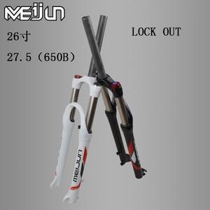 MEIJUN26 Zoll 27,5 zoll 650B Bike Mountainbike Stoßdämpfer Gabel Hydraulische Verriegelung Vor