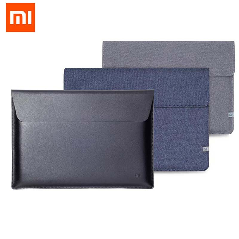 Original Xiaomi Air 12.5 13.3 Inch Laptop Sleeve Bags For Macbook Air 13 11 Retina 12 A1932 Surface 4 5 Case Notebook PU Leather