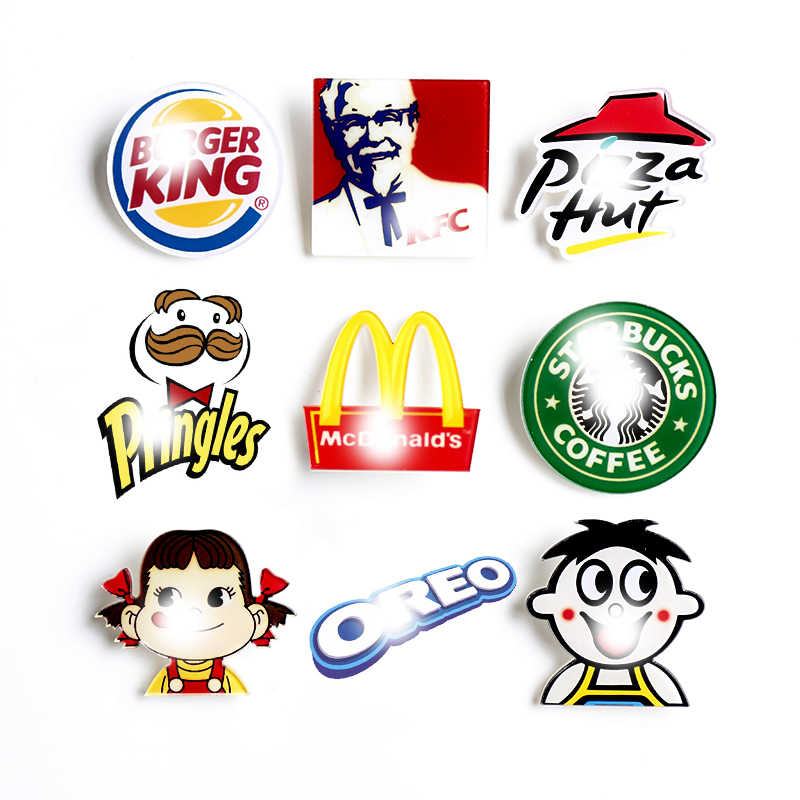 Nengdou Y89 food brooch coffee icon for clothes plastic brooch acrylic badges on backpack decoration on the hat cute brand pin